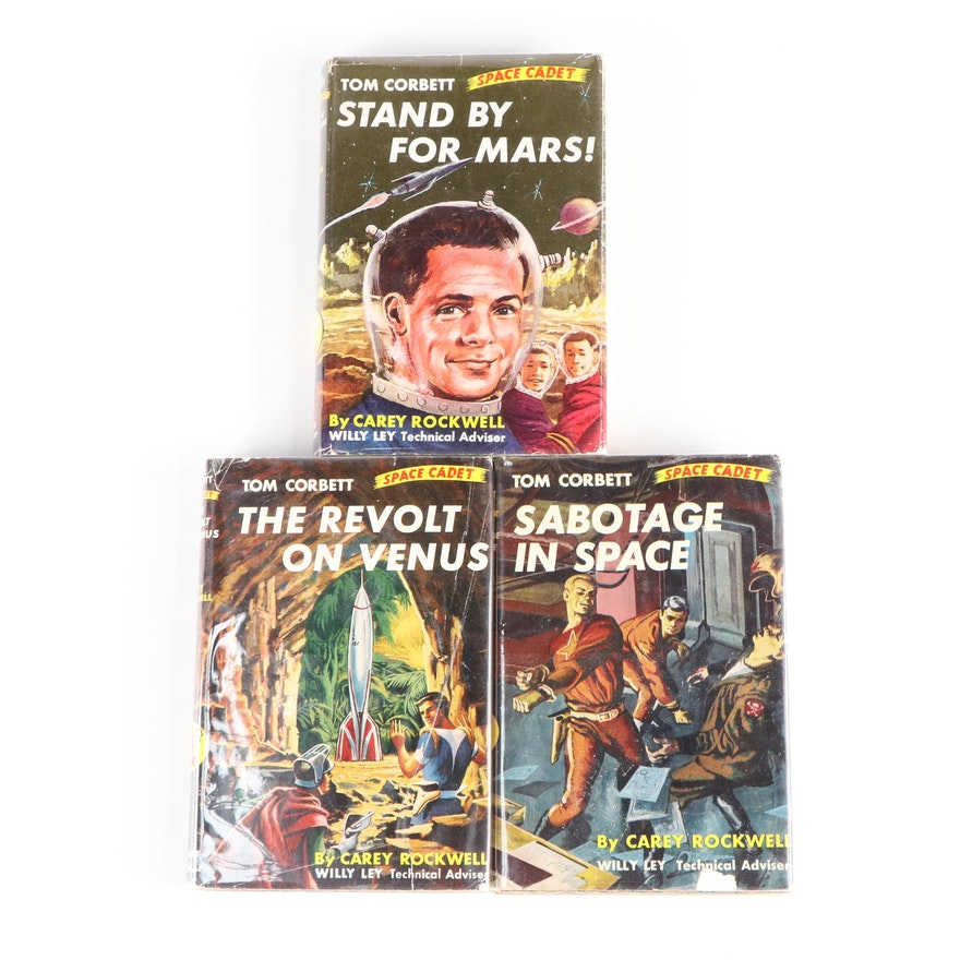 """Tom Corbett, Space Cadet"" Books by Carey Rockwell, Mid-20th Century"