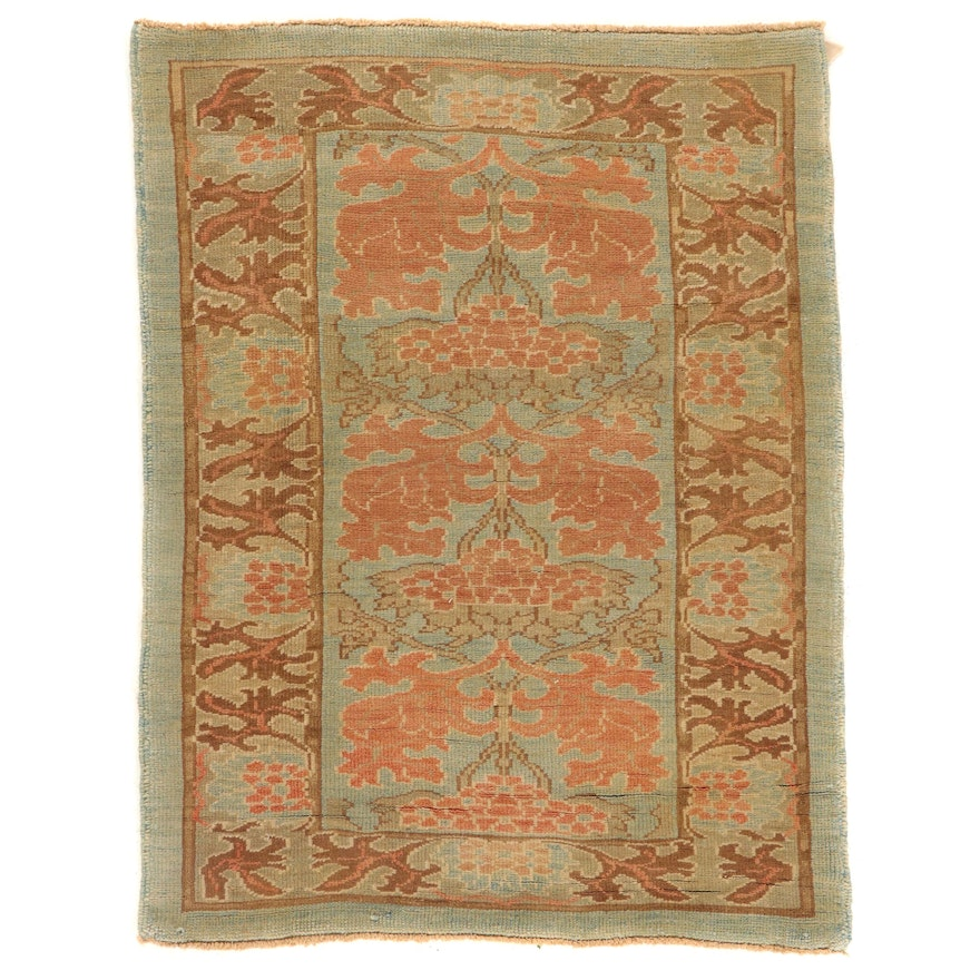 4'2 x 5'6 Hand-Knotted Turkish Donegal Area Rug