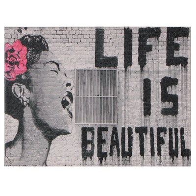 """Giclée After Banksy """"Life Is Beautiful"""""""