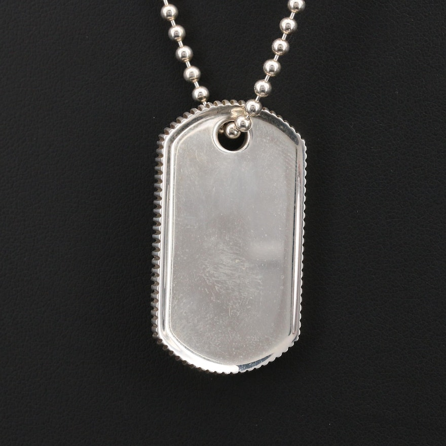Tiffany & Co. Sterling Silver Dog Tag Necklace