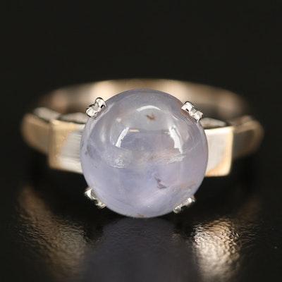 10K 5.90 CT Star Sapphire Ring
