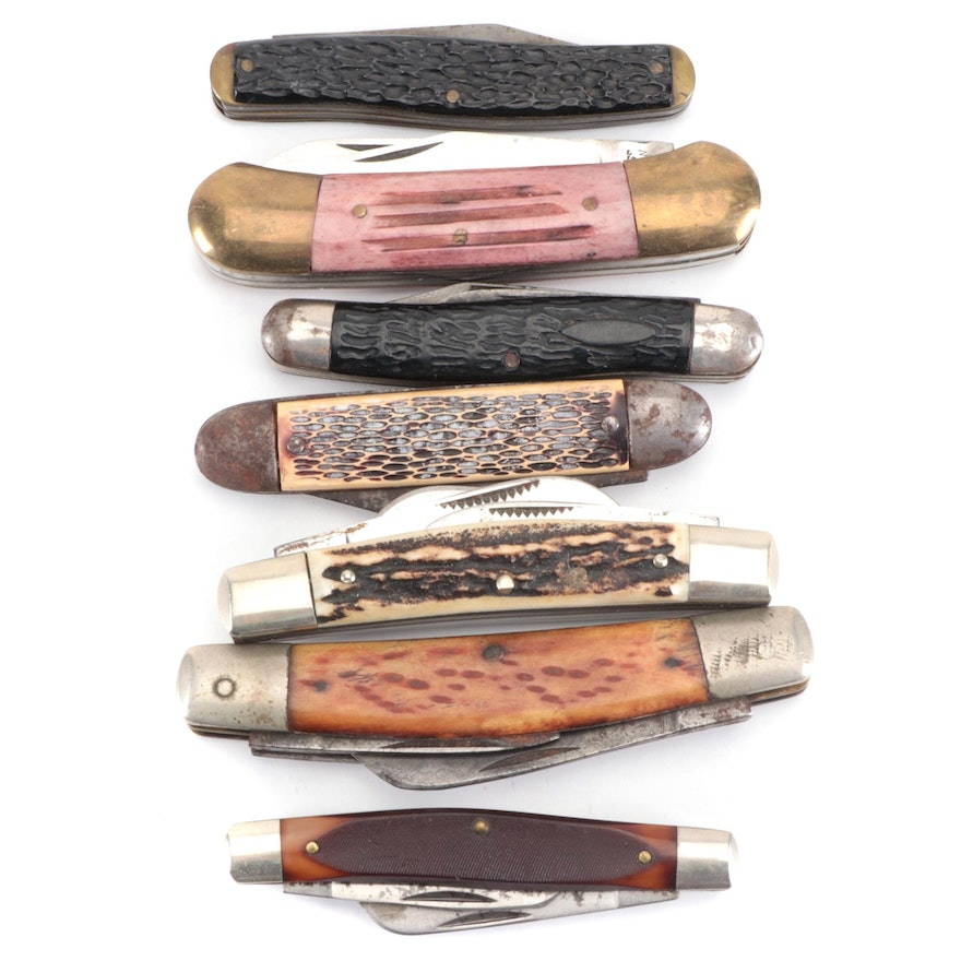 """Schrade """"Old Timer"""", Iroquois, Bulldog and Other Folding Pocket Knives"""