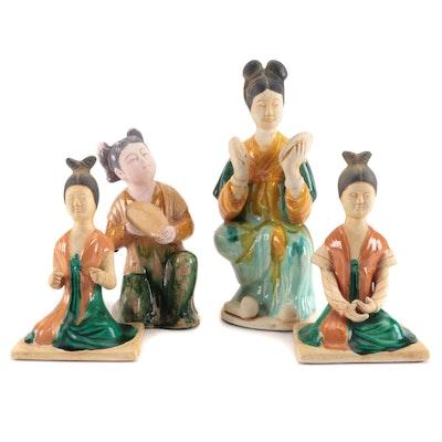 Chinese Glazed Ceramic Figurines