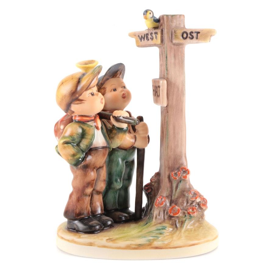 "Goebel ""Crossroads"" Porcelain Hummel Figurine"