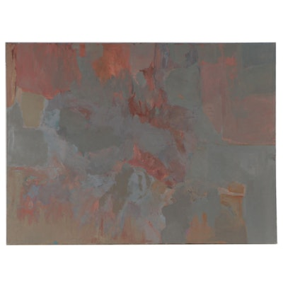 Avraham Loewenthal Large-Scale Abstract Oil Painting