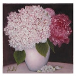 """Thu-Thuy Tran Oil Painting """"Summer Flower Bouquet,"""" 2021"""
