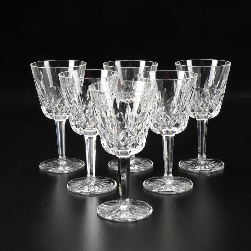"Waterford Crystal ""Lismore"" Claret Glasses"