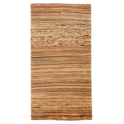 3'3 x 6'3 Hand-Knotted Pakistani Gabbeh Area Rug