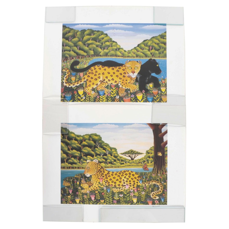 Offset Lithographs of Leopards, 21st Century