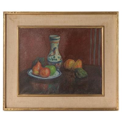 Walter Pach Still Life Oil Painting, 1928