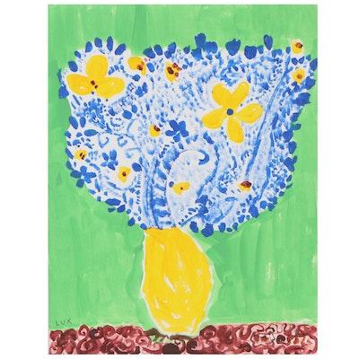 "Lux Kronos Acrylic Painting ""Persian Flowers"""
