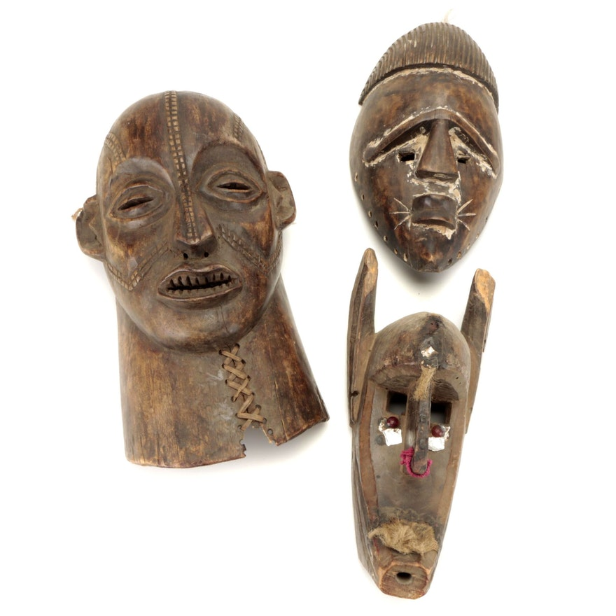 Tabwa Style, Bamana Style Masks and Other African Mask