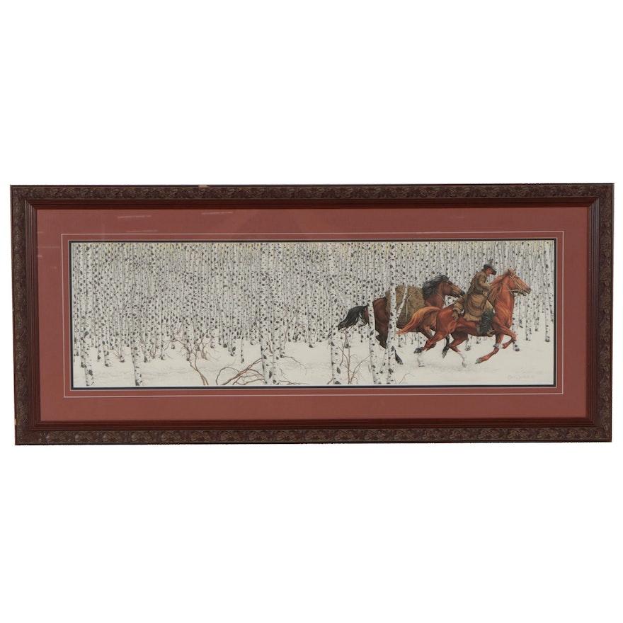 """Bev Doolittle Offset Lithograph """"Sacred Ground,"""" 1989"""
