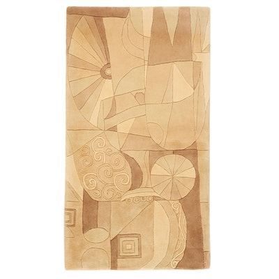 """2'7 x 4'7 Hand-Tufted KAS Signature Collection """"Beige Dreamworld"""" Accent Rug"""