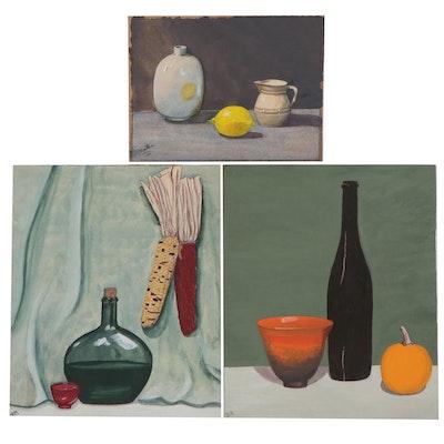 Still Life Gouache Paintings, Circa 1956