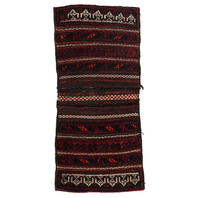 1'10 x 4'1 Hand-Knotted Persian Saddle Bag