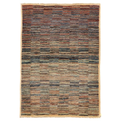 3'4 x 4'10 Hand-Knotted Pakistani Gabbeh Accent Rug