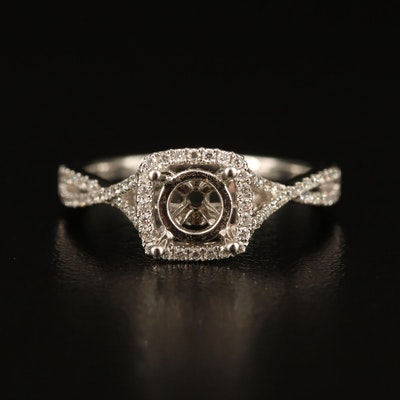 S Kashi 14K Diamond Semi-Mount Ring