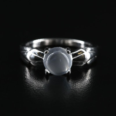 Sterling Moonstone Solitaire Ring