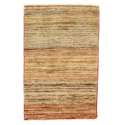 2'6 x 4'1 Hand-Knotted Pakistani Gabbeh Accent Rug