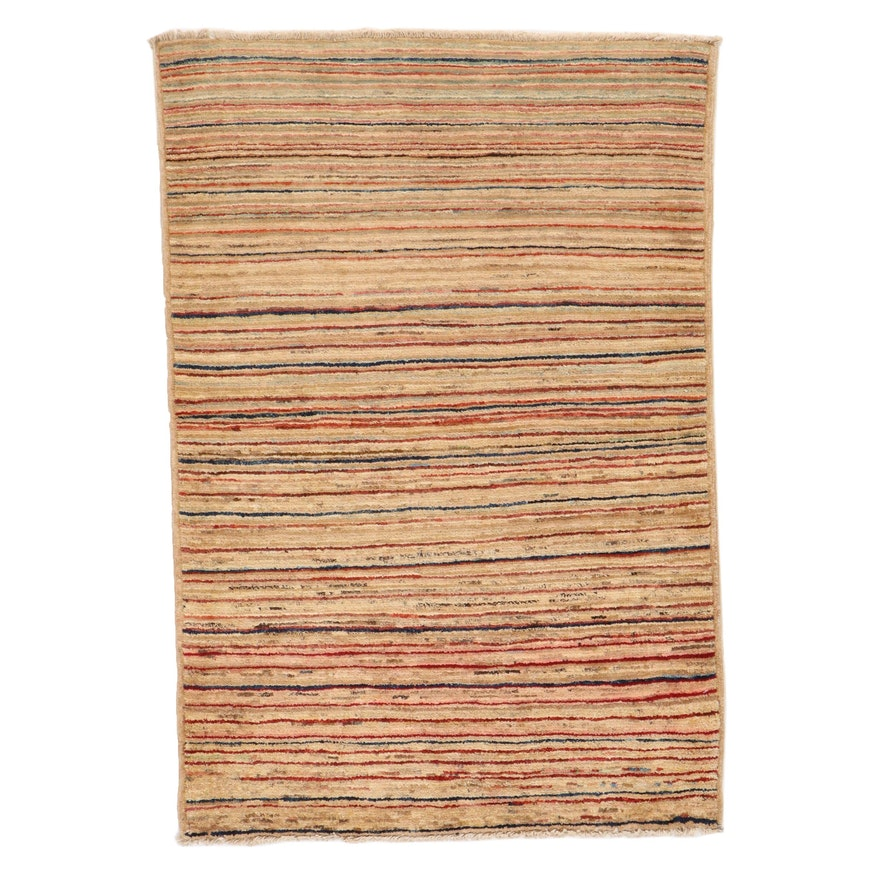 3'3 x 4'8 Hand-Knotted Pakistani Gabbeh Accent Rug