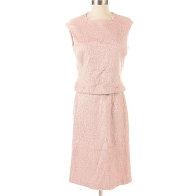 Anne Klein Skirt Set in Pink Silk Wool Blend
