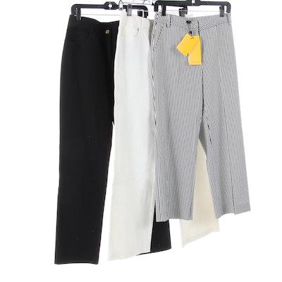 St. John, St. John Sport, and St. John SoCa Pants in Black and White