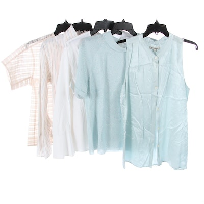 Reiss, Sara Campbell, Bell Époque, J.Crew, and Other Lightweight Blouses