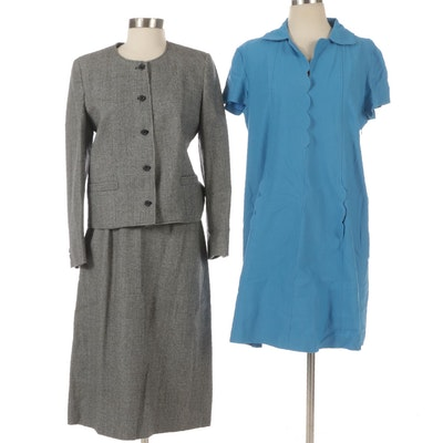 Ms. Sero Wool Skirt Suit with Sara Campbell Scalloped Dress