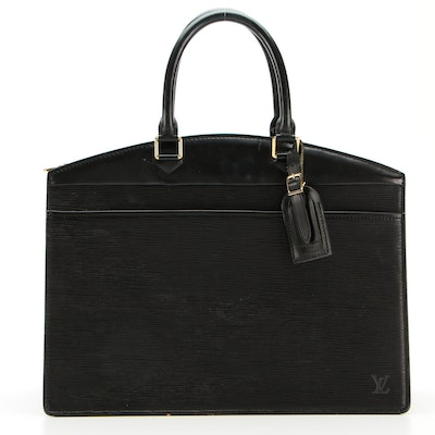 Louis Vuitton Riviera in Black Epi and Smooth Leather