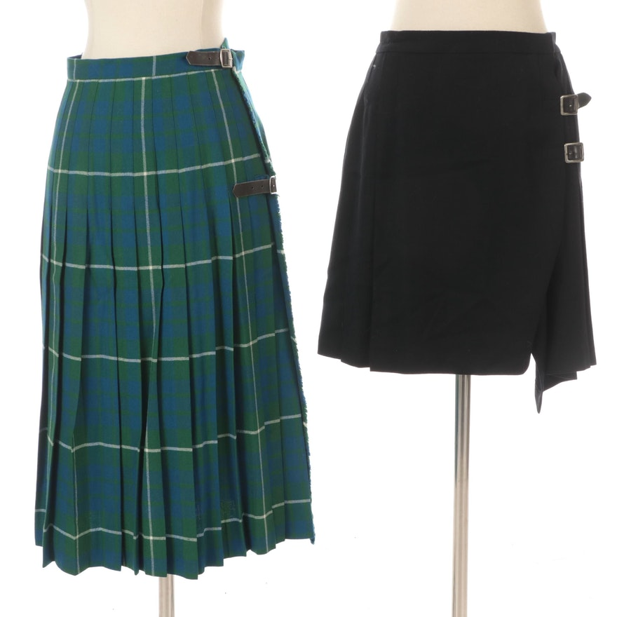 Ralph Lauren Pleated Skirt and Kinloch Anderson Hamilton Plaid Kilt