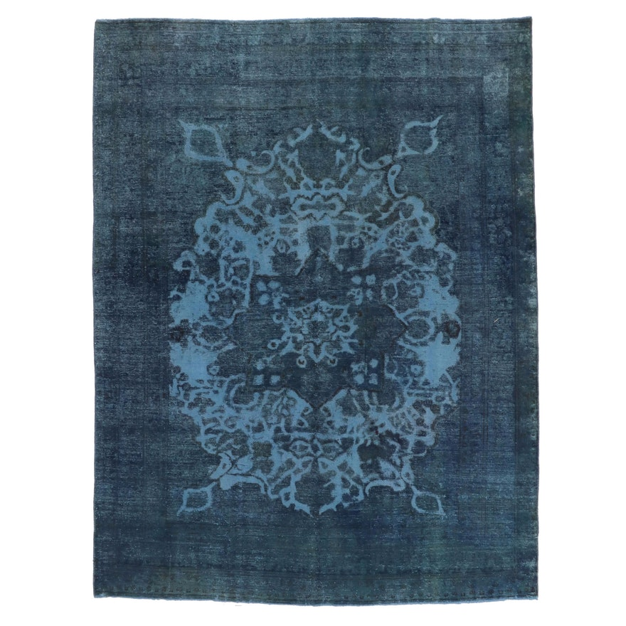 8'1 x 10'9 Hand-Knotted Persian Overdyed Area Rug