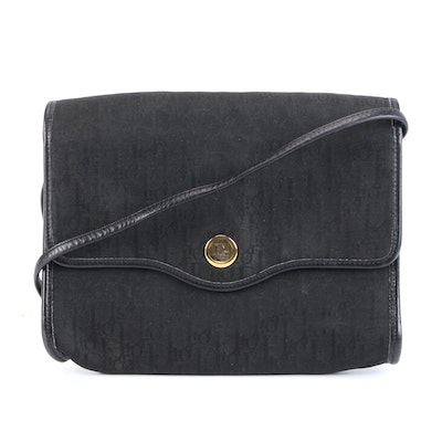 Christian Dior Crossbody Bag in Dior Oblique Canvas with Leather Trim