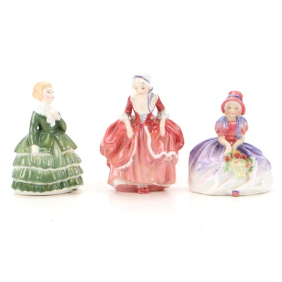 """Royal Doulton """"Goody Two Shoes"""", """"Monica"""" and """"Belle"""" Bone China Figurines"""