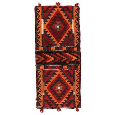 2' x 4'7 Handwoven Persian Shiraz Kilim Saddle Bag