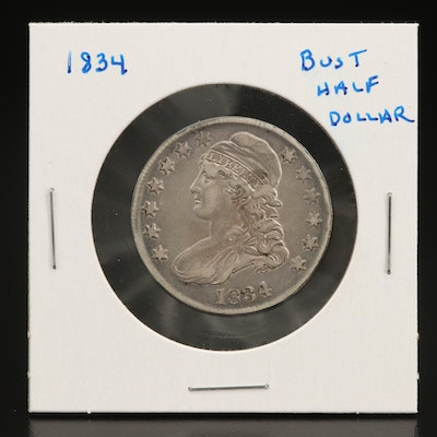 1834 Capped Bust Silver Half Dollar