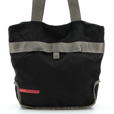 Prada Sport Nylon Tote Bag in Black and Grey