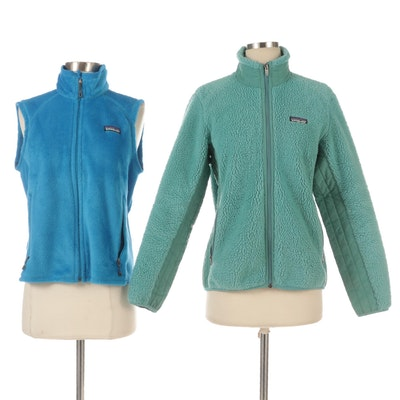 Patagonia Synchilla Jacket and Polartec Fleece Vest