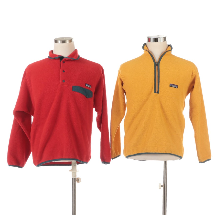 Men's Patagonia Snap-T Synchilla Fleece with Boy's Zippered Synchilla Pullover