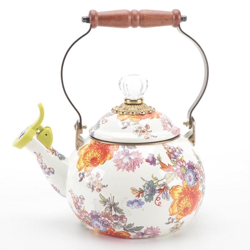 "MacKenzie-Childs ""Flower Market"" Metal and Enamel Tea Kettle"