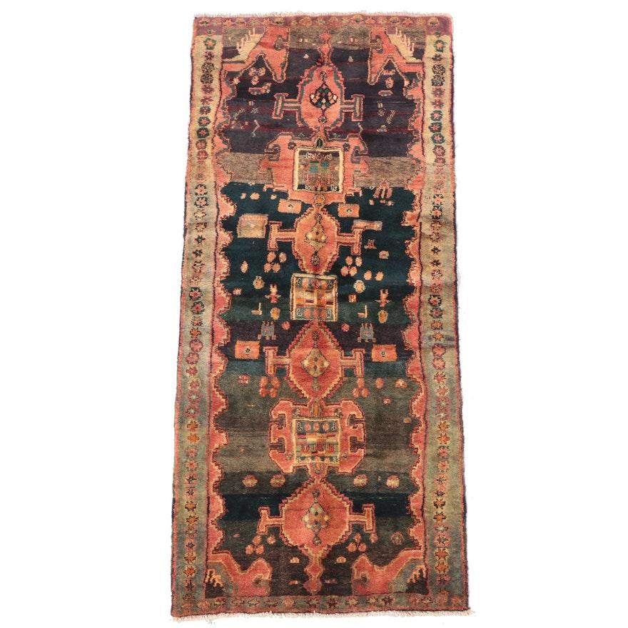 3'5 x 8'2 Hand-Knotted Caucasian Kazak Long Rug