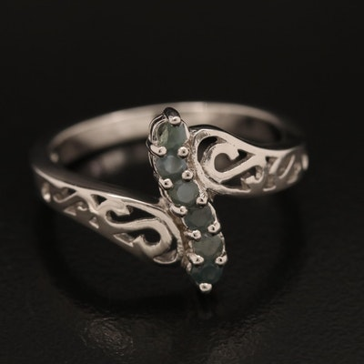 Sterling Alexandrite Band with Scrollwork