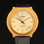 Vintage Longines Flagship HF 18K Gold Automatic Wristwatch