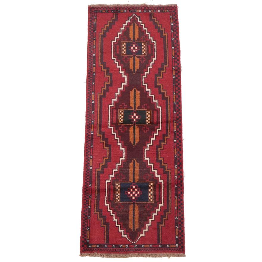2'7 x 7' Hand-Knotted Persian Kelardasht Carpet Runner
