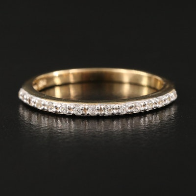 Sterling Zircon Stackable Band