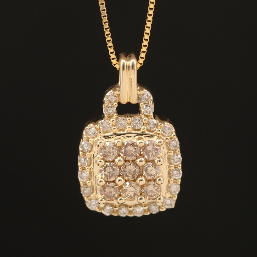 14K 0.48 CTW Diamond Pendant Necklace