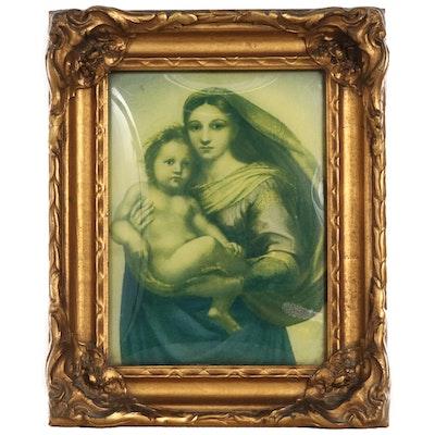 "Offset Lithograph After Raphael ""Sistine Madonna"""