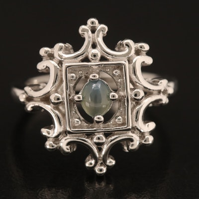 Sterling Cat's Eye Alexandrite Ring