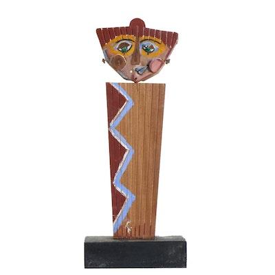 Folk Art Style Wood Sculpture, Mid to Late 20th Century