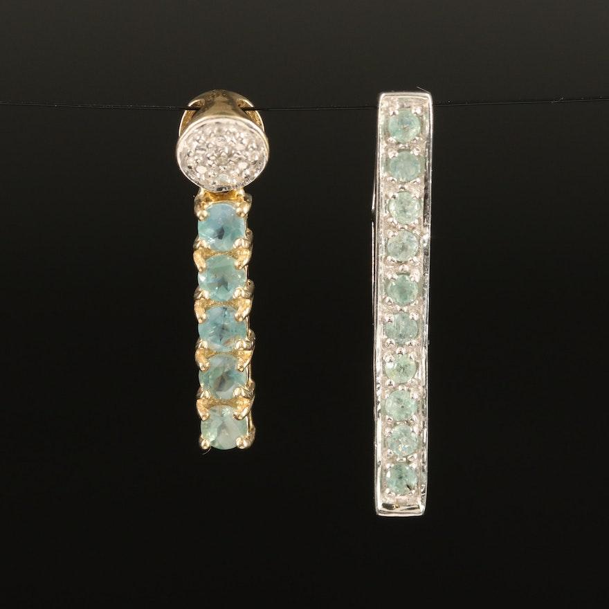 Sterling Pendants Including Alexandrite and Zircon